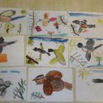 Разные птицы в полёте, 9 детских рисунков