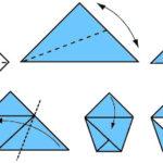 схема оригами стаканчика