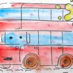 Рисунок «Двухэтажный втобус»