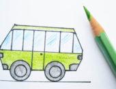 автобус дети рисунок