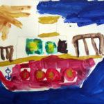 Рисунок «Розовый пароход»