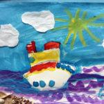 Рисунок «Корабль уходит в море» 3