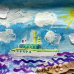Рисунок «Корабль уходит в море» 1