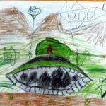 детский рисунок танка и самолётов