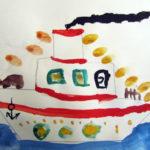 Рисунок «Нарядный пароход»