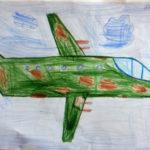 рисунок военного самолёта