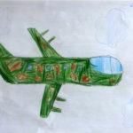 рисунок военного самолёта без фона