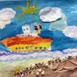 Рисунок «Корабль уходит в море» 6