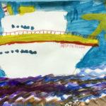 Рисунок «Корабль уходит в море» 2