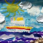Рисунок «Корабль уходит в море» 4