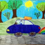 Индивидуальная работа «Легковой автомобиль» (фломастеры)