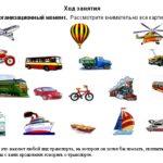 Карточка с изображениями разных видов транспорта