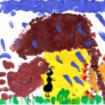 рисунок Под грибом