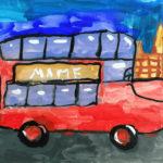 Рисунок «Лондонский автобус»