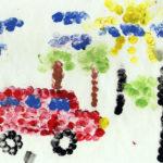 Пуантилизм «Легковой автомобиль»