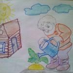 Рисунок карандашом «Расти, репка, большая-пребольшая»