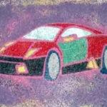 Рисование цветным песком «Гоночная машина»