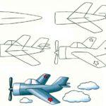 Схема рисования Самолёт