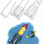 Схема рисования Ракета