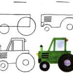 Схема рисования Трактор