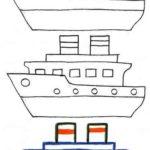 Схема рисования Пароход
