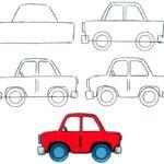 Схема рисования Легковой автомобиль