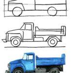 Схема рисования Грузовой автомобиль