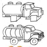Схема рисования Бензовоз