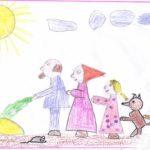 Рисунок карандашами «Тянем, тянем, не потянем»