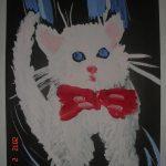 Белый красавец кот
