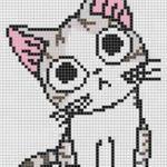 Котик с розовыми ушками