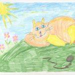 Лежебока — рыжий кот
