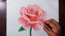 При желании школьник может научиться рисовать красивую розу в различных техниках