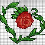 Сердце из розы